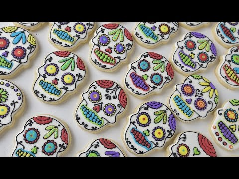 DAY OF THE DEAD SKULL COOKIES, HANIELA'S