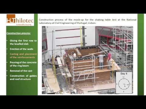 HiLoTec – Construction process of small compressed earth block house