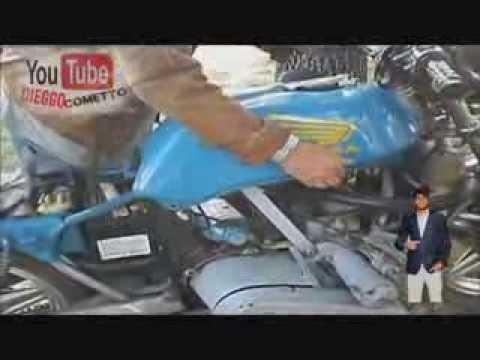Moto Honda con Motor de auto  Fiat 600cc