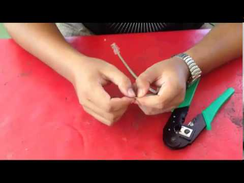 How To make Network Cable ( Straight-through, Cross-over, Roll-over )
