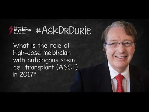 What is the role of high-dose melphalan with autologous stem cell transplant (ASCT) in 2017?
