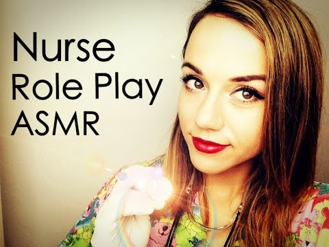 Nurse Role Play  Physical Exam with Rubber Gloves *ASMR*