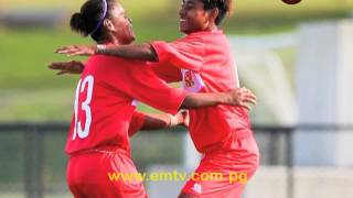 Papua New Guinea defeated Tonga 4-1 in the opening match of Day 3 at the OFC U-19 Women's Championship 2017.  Midfielder Ramona Padio, scored a double along with striker Nicollete Ageva and Selina Unamba both scoring a goal for PNG.  - visit us at http://www.emtv.com.pg/ for the latest news...