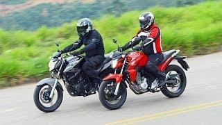 Um vídeo comparando as duas marcas de motos Yamaha e Honda as marcas mais vendidas no Brasil .