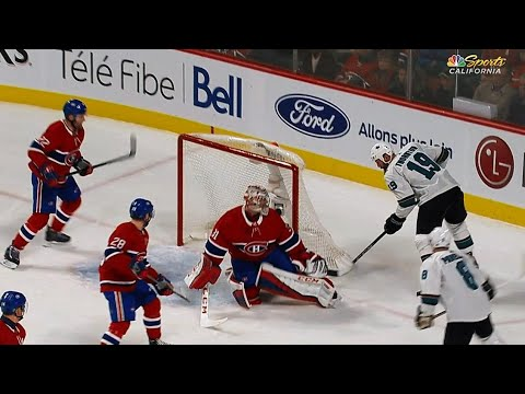 Video: Joe Thornton hanging around net tucks 8th goal of season past Carey Price