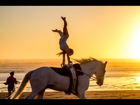 Equestrian Vaulting on the Beach HD