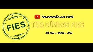 Tira Dúvidas FIES AO VIVO sobre Aditamentos, Transferência e Suspensão. Transmissão ao vivo realizada em 20.01.2017