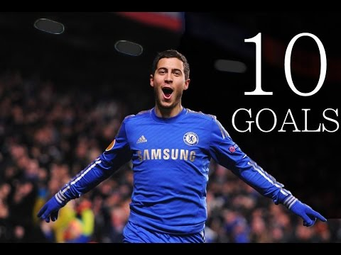 Eden Hazard - Throwback - First 10 Goals For Chelsea FC - HD
