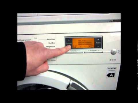 Waschmaschine Teil 5 Kindersicherung ausschalten Siemens