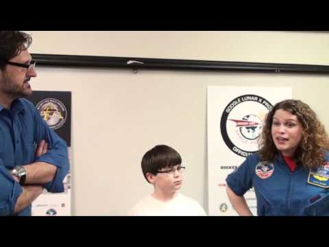 Tim Pickens interviews student at Valley Intermediate School -  2
