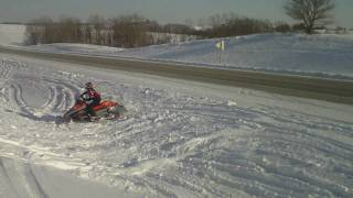 8. Snowmobilie ditch banging in Iowa 2011