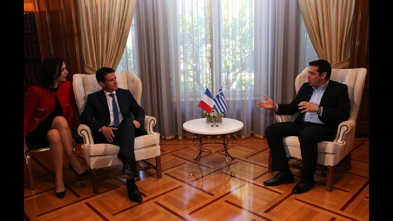 Συνάντηση με τον πρωθυπουργό της Γαλλίας κ  Μ  Βάλς