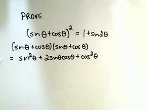 proving - Proving some Random Trigonometric Identities - 3 examples are shown. Nothing deep, just a few manipulations! For more free math videos, visit http://PatrickJ...