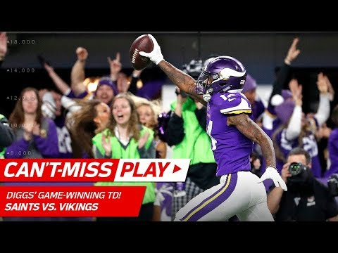 Video: Stefon Diggs Makes Miracle TD Catch on Last Play, Vikings Win!