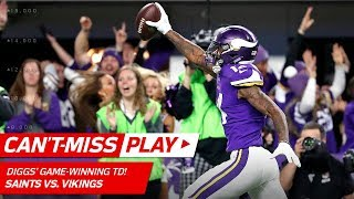 Video Stefon Diggs Makes Miracle TD Catch on Last Play, Vikings Win! 🦄 | Can't-Miss Play | NFL HLs MP3, 3GP, MP4, WEBM, AVI, FLV Januari 2018