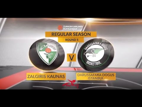 EuroLeague Highlights RS Round 5: Zalgiris Kaunas 80-83 Darussafaka Dogus Istanbul