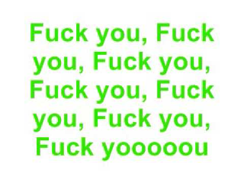Fuck You - Lily Allen (Lyrics) (видео)