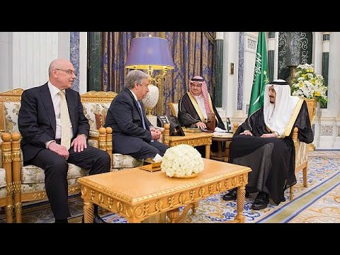 العرب اليوم - شاهد: لقاء الملك سلمان مع رئيس لجنة الشراكات في حلف شمال الأطلسي