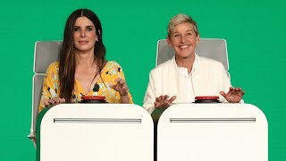 Video Sandra Bullock Answers Ellen's Burning Questions MP3, 3GP, MP4, WEBM, AVI, FLV Maret 2019