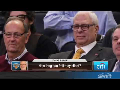Video: How long can Phil Jackson stay silent about Carmelo and the Knicks?