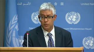 Daily Press Briefing: South Sudan, Middle East, Yemen, Peacekeeping, Democratic People's Republic of Korea, AIDS, Hunger,...