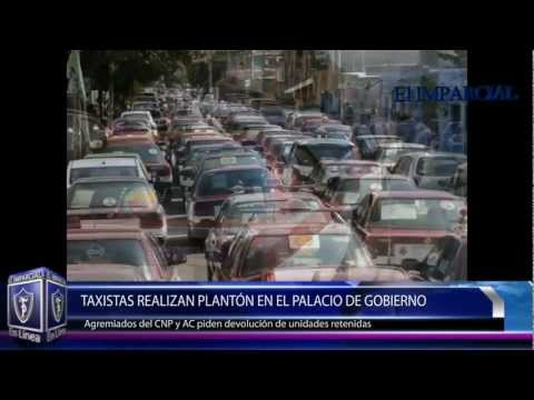 Piden liberar a taxis retenidos 