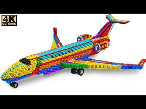 DIY - How To Make Special Aircraft From Magnetic Balls ( Satisfying Videos )   Magnet Satisfying