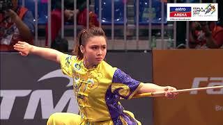 20 Ogos: Wushu - Gun Shu Wanita Aksi pingat perak Loh Ying Ting dalam acara Wushu Wanita kategori Gun Shu. SUBSCRIBE...