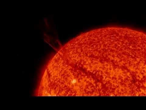 Espulsione di filamento dalla superficie solare