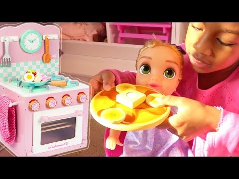 Kitchen Playset & Food - Baby Doll Cooking And Serving