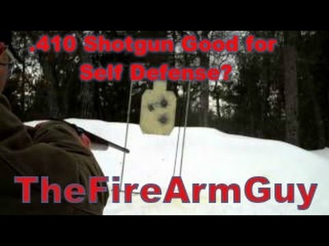 .410 Shotgun Good for Self Defense? (Range Test) – TheFireArmGuy