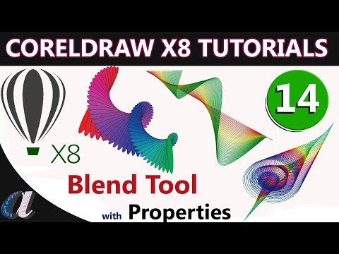 CorelDraw Telugu Tutorials - 14 || Blend Tool With Properties || Computersadda.com