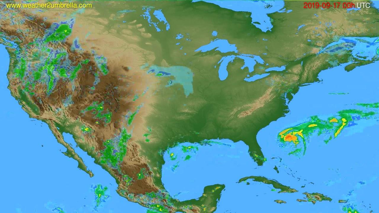 Radar forecast USA & Canada // modelrun: 12h UTC 2019-09-16