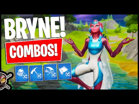 BRYNE and CORAL COWL Combos! Skin Rating (Fortnite Battle Royale)
