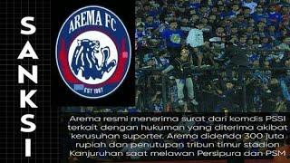 Video RESMI KELUAR!! Ini Sanksi Arema FC Dari Komdis PSSI MP3, 3GP, MP4, WEBM, AVI, FLV April 2018