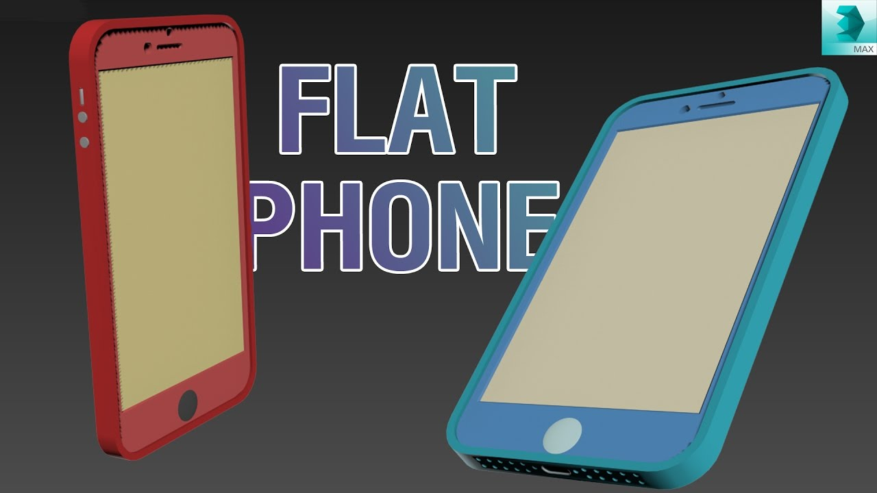 video/modeling flat phone 3ds max tutorial
