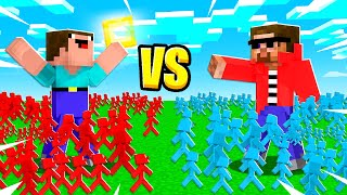 100 vs 100 CLAY SOLDIER BATTLE-DOME in Minecraft!