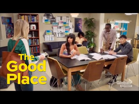 Tahani's hilarious reaction on Eleanor winning the lottery (The Good Place 3x03)