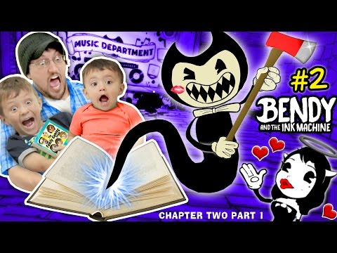 DON'T SCARE MY BABY! Bendy and the Ink Machine #2 CHAPTER TWO (FGTEEV plays SCARY MICKEY MOUSE Game) (видео)