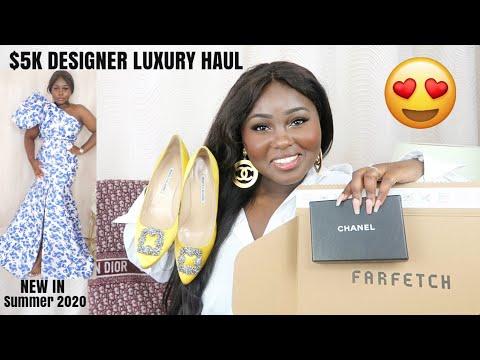 $5K DESIGNER LUXURY FASHION HAUL | NEW IN SUMMER 2020 | CHANEL FAR… видео