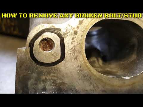How to remove any broken bolt/stud