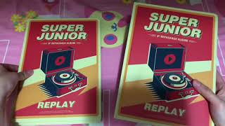 Super Junior슈퍼주니어 8th repackage album Replay normal, special edition unboxing