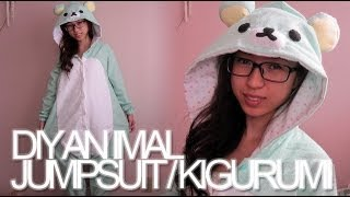 DIY: Animal Jumpsuit / Costume / Onesie / Kigurumi - YouTube