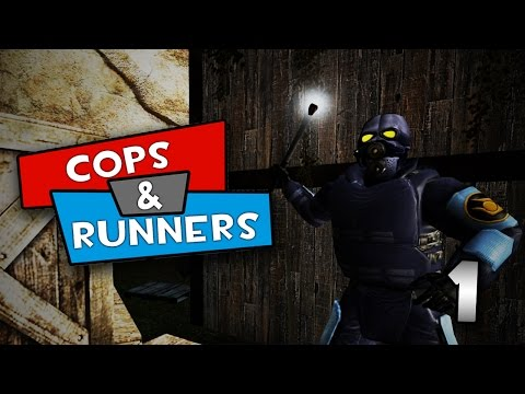 Cops - We try out a new gamemode called 'Cops N Runners' where a warden must establish a jail on the map and then find the other prisoners running around and hiding on the map and smack them with...