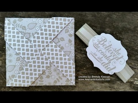 Pinwheel Card tutorial - easy!
