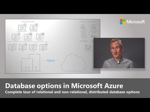Database options in Microsoft Azure