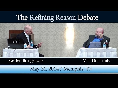 debate - On May 31, 2014 at the Marriot East's Grand Ballroom in Memphis, TN, atheist Matt Dillahunty and presuppositional apologist Sye Ten Bruggencate took the stag...