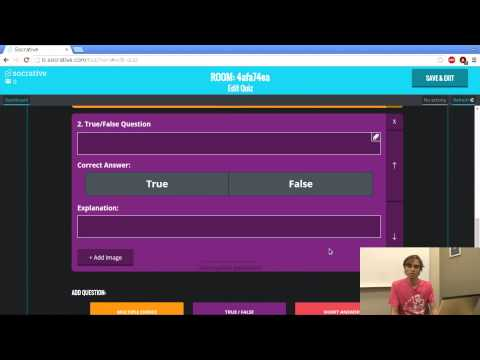 Socrative helps teachers develop a quiz or test.