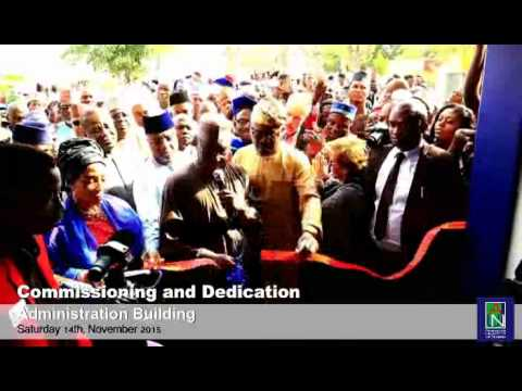 Commissioning of Akin Kekere-Ekun Administration Building I