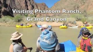 http://www.NaturalMoment.com Canyoneers river guides visit historic Phantom Ranch, the only facility at the bottom of Grand ...